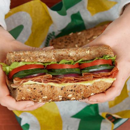 Subway Sub -Turkey, Ham & Bacon Melt
