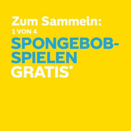 Spongebob Gratis im Kids'Pak
