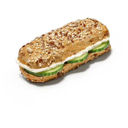 Müsli Snack - Frischkäse & Gurke