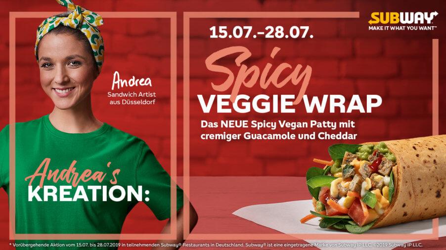 Spiccy Veggie Wrap - Subway
