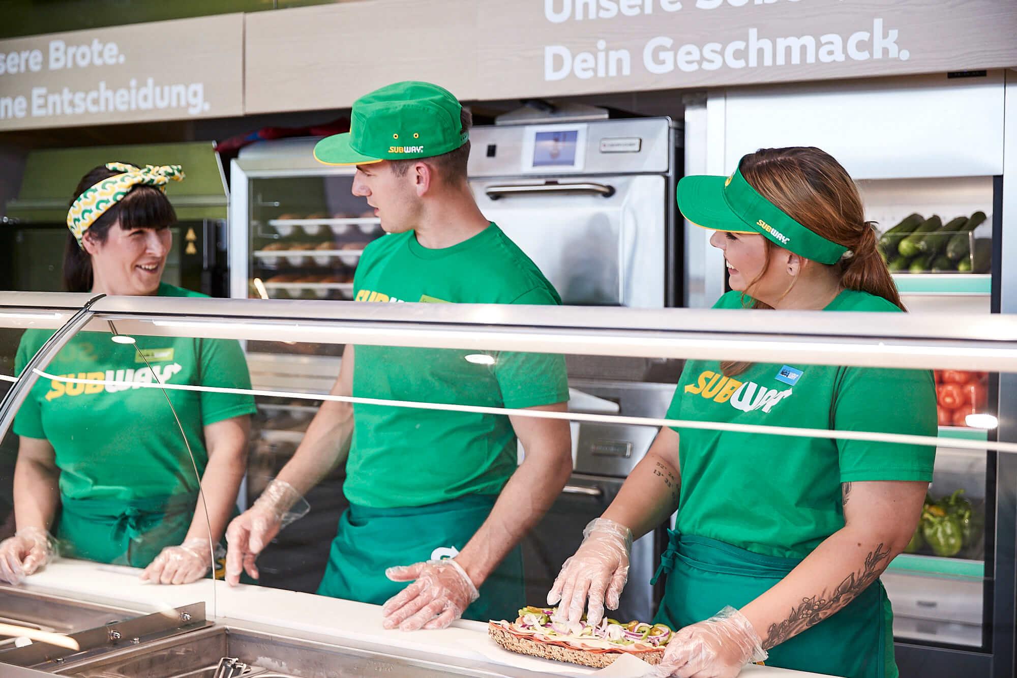 Arbeiten bei den Franchisenehmern von Subway® Deutschland...