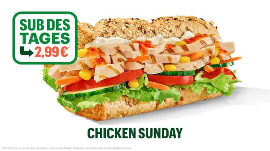 Subway - Sub des Tages - Chicken Breast