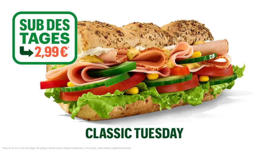 Subway - Sub des Tages - Turkey and Ham
