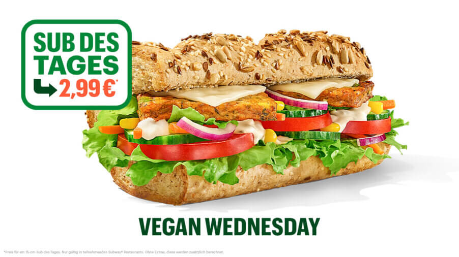 Subway - Sub des Tages - Spicy Vegan Patty